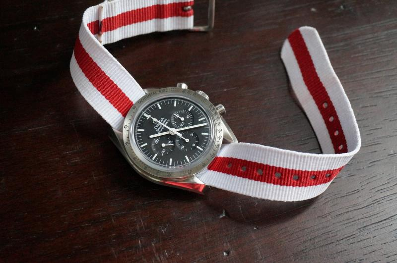 Name:  Speedmaster on red and white nato.jpg