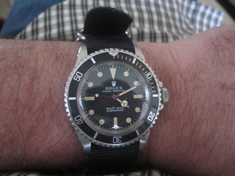 Name:  Everestx Rolex 5513 on Nato 2.4.15.jpg Views: 74 Size:  52.3 KB